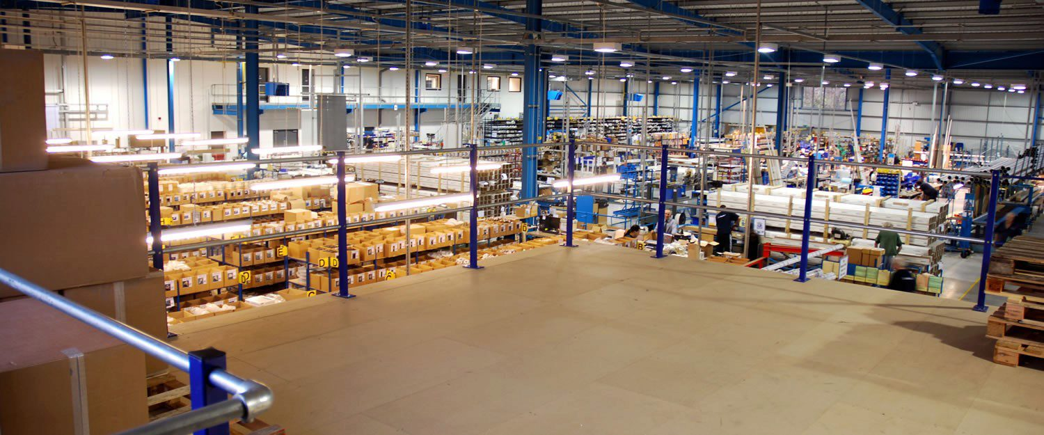 Upper-level access and a full range of mezzanine floor ancillaries